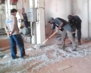 马里棉籽剥壳筛选视频